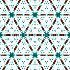 Grade de Triângulo Design de padrão vetorial sem costura