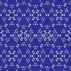 Sechseckige Luftige Sterne Nahtloses Vektor Muster