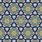 About Blossoms And Triangles Seamless Vector Pattern Design