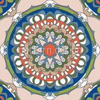 Noble Rose Window Repeat Pattern