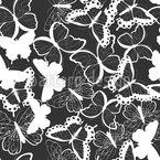 Monochrome fliegende Schmetterlinge Designmuster