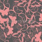 Süße Schmetterlinge Nahtloses Vektormuster
