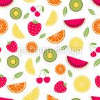 Frische Sommerfrüchte Nahtloses Vektormuster