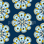 Night Flower Passion Seamless Vector Pattern Design