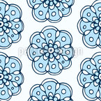 Frozen Flowers Seamless Vector Pattern Design