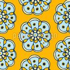 Freudige Blumen Nahtloses Vektormuster