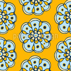 Joyful Flowers Seamless Vector Pattern Design