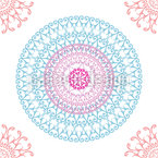 Orbiting Mandalas Seamless Vector Pattern Design