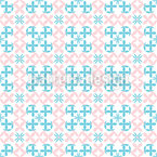 Chain Flowers Seamless Vector Pattern Design