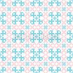 Kettenblumen Nahtloses Vektor Muster