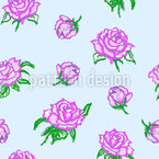 Süße Rosen Nahtloses Vektormuster