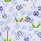 Field Of Dandelions Seamless Vector Pattern Design
