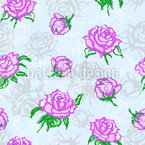 Rose Silhouettes Repeat Pattern