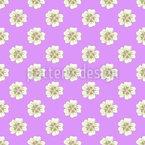Lattice Of Mallow Flowers Pattern Design