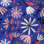 Feathery And Groovy Seamless Vector Pattern Design