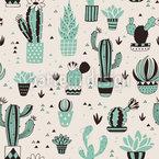 Kaktus-Blumen Nahtloses Vektormuster
