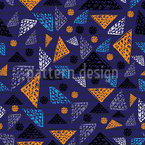 Grid In A Triangle Seamless Vector Pattern Design