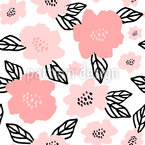 Peony Abstraction Seamless Vector Pattern Design