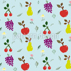 Garden Fruits Seamless Vector Pattern Design
