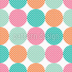Polka Dot Knitted Seamless Vector Pattern
