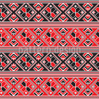 Hungarian Folklore Repeating Pattern