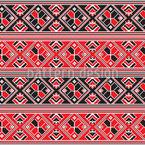 Ungarische Folklore Nahtloses Vektormuster