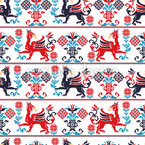Hungarian Mythology Seamless Pattern