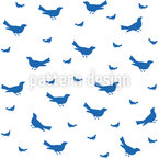 Bird Silhouette  Seamless Vector Pattern Design