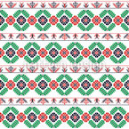 Stitched Hungarian Bordure Seamless Vector Pattern Design