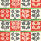 Hungarian Folk Seamless Vector Pattern Design