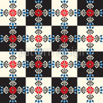Hungarian Checkerboard Vector Ornament