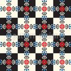 Ungarisches Schachbrett Vektor Ornament