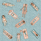 Girls Poolparty Vector Pattern