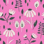 アングルドフラワー草原 シームレスなベクトルパターン設計