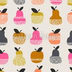 Apfel-Birnen-Textur Nahtloses Vektormuster