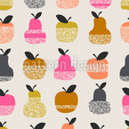 Apple-Pear-Texture Vector Pattern