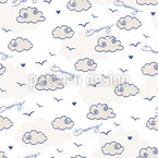 Dreaming Clouds Seamless Pattern