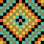 Colorful Mosaic Tiles Seamless Vector Pattern Design
