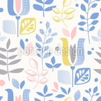 Fantastic World Of Flora Vector Pattern
