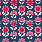 Palmette-Blüten Nahtloses Vektormuster