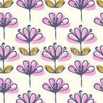 Teichblüten Nahtloses Vektormuster