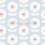 Heart Blossoms Seamless Pattern