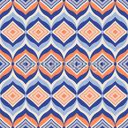Lozenge In Ogee Vector Pattern