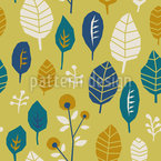 Eckiges Blätterwerk Nahtloses Vektormuster