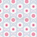 Цветы воланы Бесшовный дизайн векторных узоров