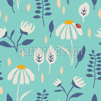 Ladybug In Angular Valley Seamless Vector Pattern