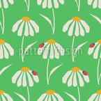 Daisy Shields Seamless Vector Pattern Design