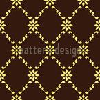 Tarte de chocolate Design de padrão vetorial sem costura