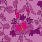 The Butterfly House Seamless Vector Pattern