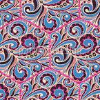 Paisley Fliesen Nahtloses Muster